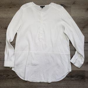 Eileen Fisher linen blend tunic pullover blouse
